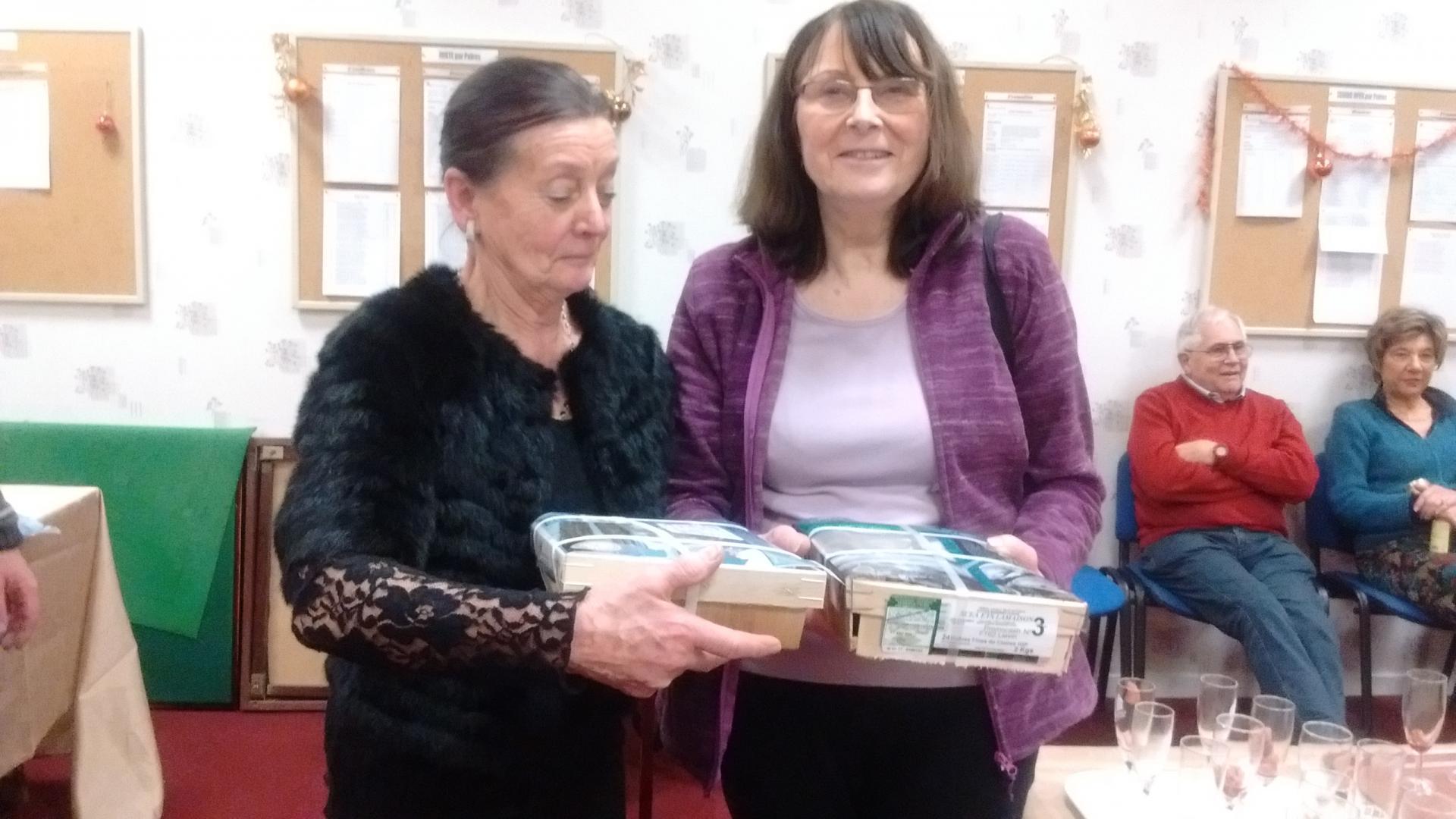 des huîtres pour Denise et Mireille !